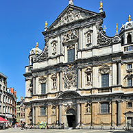 The Baroque Saint Carolus Borromeus Church in Antwerp, Belgium