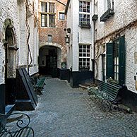 The Vlaaikensgang / Vlaeykensgang, 16th century alley in the town centre of Antwerp, Belgium
