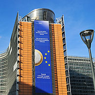 The European Commission, executive body of the European Union, are based in the Berlaymont building of Brussels, Belgium