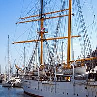 Three-master / barquentine and former training ship Mercator, designed by the Antarctic explorer Adrien de Gerlache at the Ostend harbour, Belgium