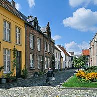 Narrow streets in the beguinage of Lier, Belgium