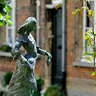 Statue of Symforosa next to St Margaret's Church in the beguinage of Lier, Belgium