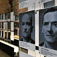 Pictures of the 262 victims of the 1956 mining disaster at the Bois du Cazier coal mine, Marcinelle, Charleroi, Belgium