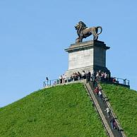 The Lion Hill, which is the main memorial monument of the Battle of Waterloo, Eigenbrakel, Belgium