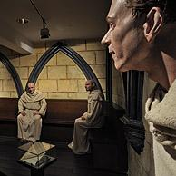 Dummies showing the life of the Cistercian Monks of the Our Lady of the Dunes abbey in the Ten Duinen museum at Koksijde, Belgium