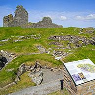 Jarlshof, archaeological site showing prehistoric, Norse settlements at Sumburgh Head, Shetland Islands, Scotland, UK