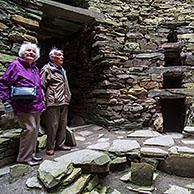 Interior of the Mousa Broch, tallest Iron Age broch and one of Europe's best-preserved prehistoric buildings, Shetland Islands, Scotland, UK