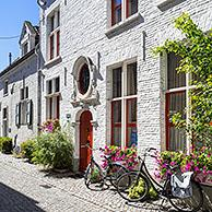 Traditional 17th century beguines house in the Large Beguinage / Groot Begijnhof in the city Mechelen / Malines, Antwerp, Flanders, Belgium