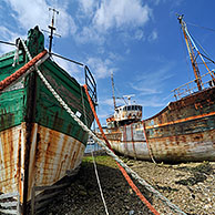 Old fishing boats in the harbour of Camaret, Brittany, France <BR><BR>More images at www.arterra.be</P>