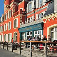 Hotel restaurant Les Tourelles at Le Crotoy, Bay of the Somme, Côte d'Opale / Opal Coast, France