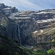 The Cirque de Gavarnie and the Gavarnie Falls / Grande Cascade de Gavarnie, highest waterfall of France in the Pyrenees