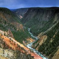 Grand Canyon of the Yellowstone River, seen from Inspiration Point, Yellowstone National Park, Wyoming, US 