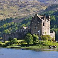 Eilean Donan Castle in Loch Duich in the Western Highlands of Scotland, UK