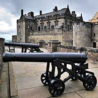 Cannons at Stirling Castle, Scotland, UK