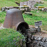 Iron turret from trench at the First World War battlefield Le Linge at Orbey, Alsace, France <BR><BR>More images at www.arterra.be</P>