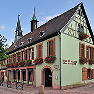 Museum and birthplace of Albert Schweitzer at Kaysersberg, Alsace, France