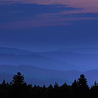 View over the Vosges mountains, Alsace, France <BR><BR>More images at www.arterra.be</P>